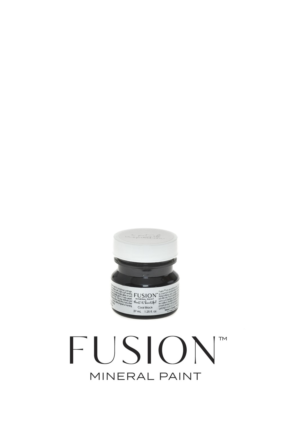 Coal Black Fusion Mineral Paint Tester