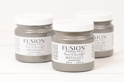 Metallics - Brushed Steel Fusion Mineral Paint 250 mL