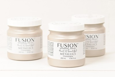 Metallics - Champagne Fusion Mineral Paint 250 mL