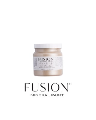 Metallics - Champagne Gold Fusion Mineral Paint 250 mL