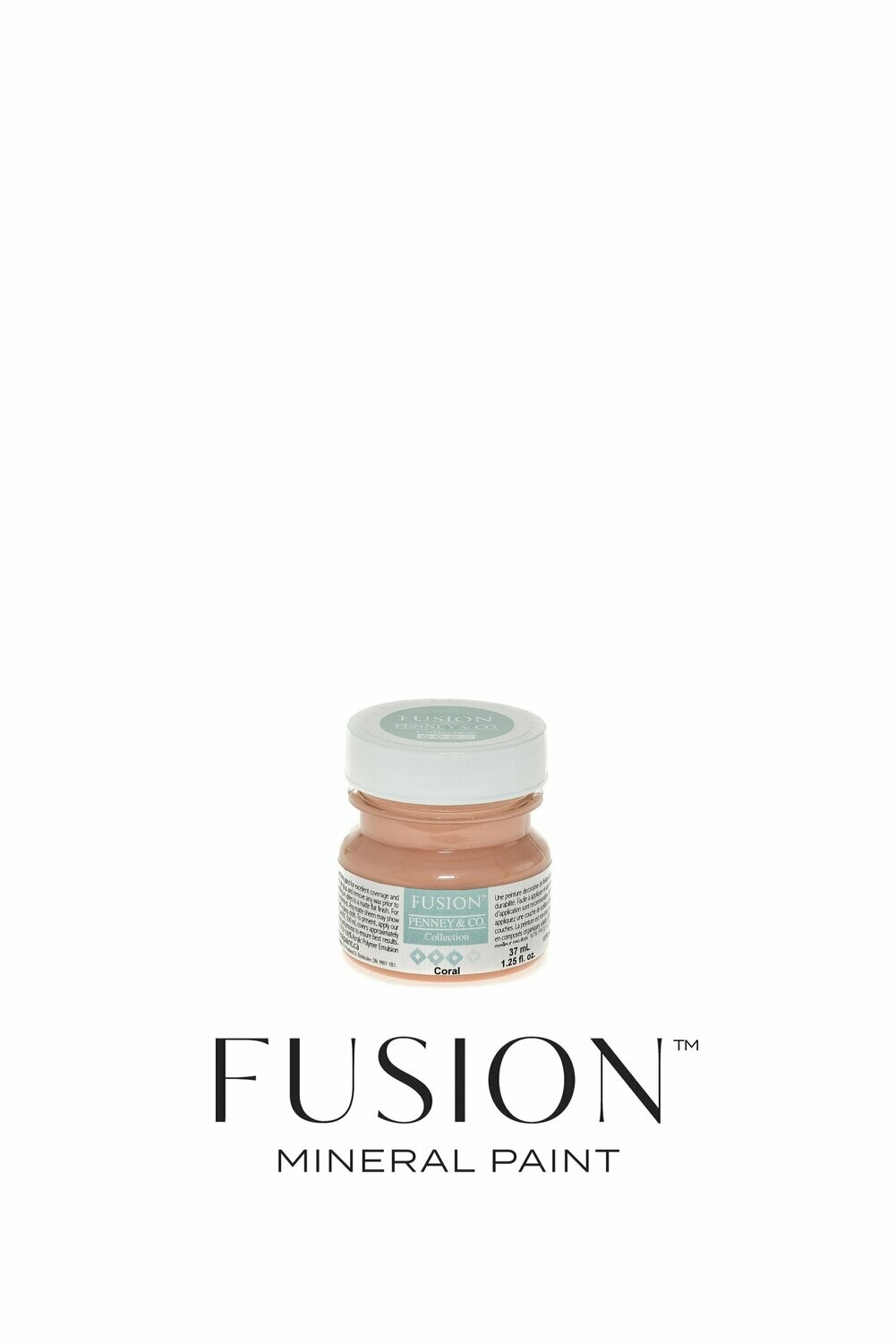 Coral Fusion Mineral Paint Tester