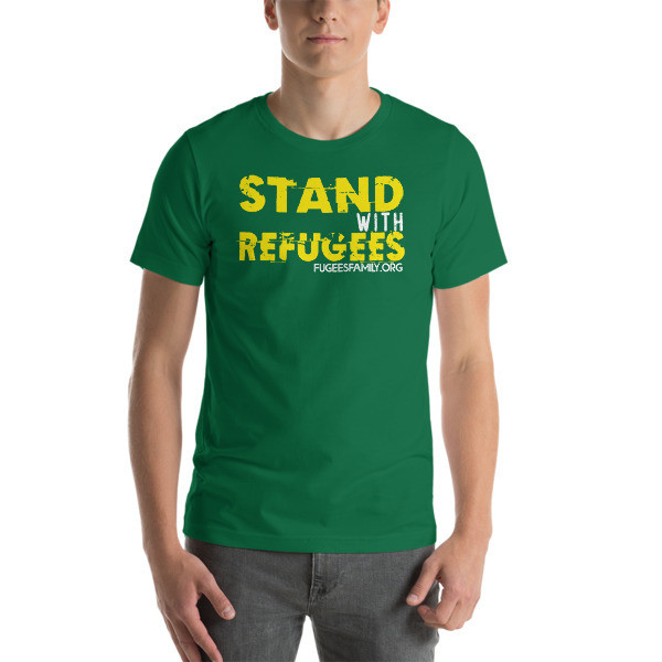Stand With Refugees Short Sleeve Jersey T-Shirt