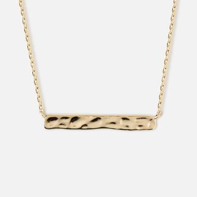 Orelia Hammered Bar Short Necklace