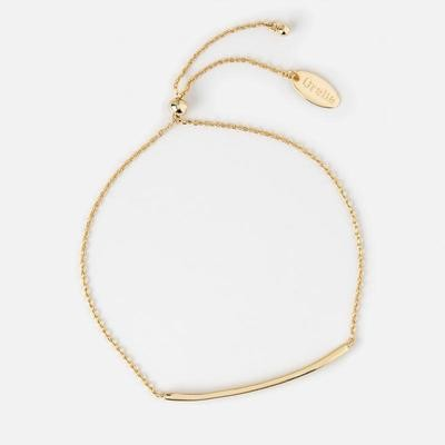 Orelia Gold Plated Crystal Bar Bracelet
