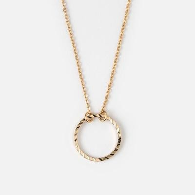 Orelia Circle cut out Ditsy Necklace