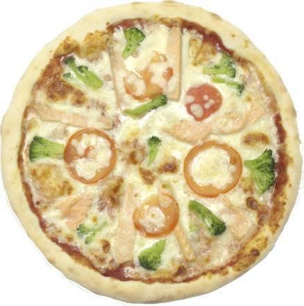 Пицца с лососем и брокколи