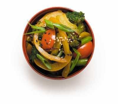 Вок с овощами