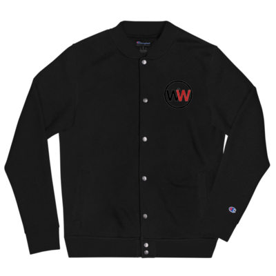 It Was Written Embroidered Champion Bomber Jacket