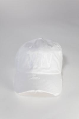 ITWW Vintage Distressed White on White Dad Hat