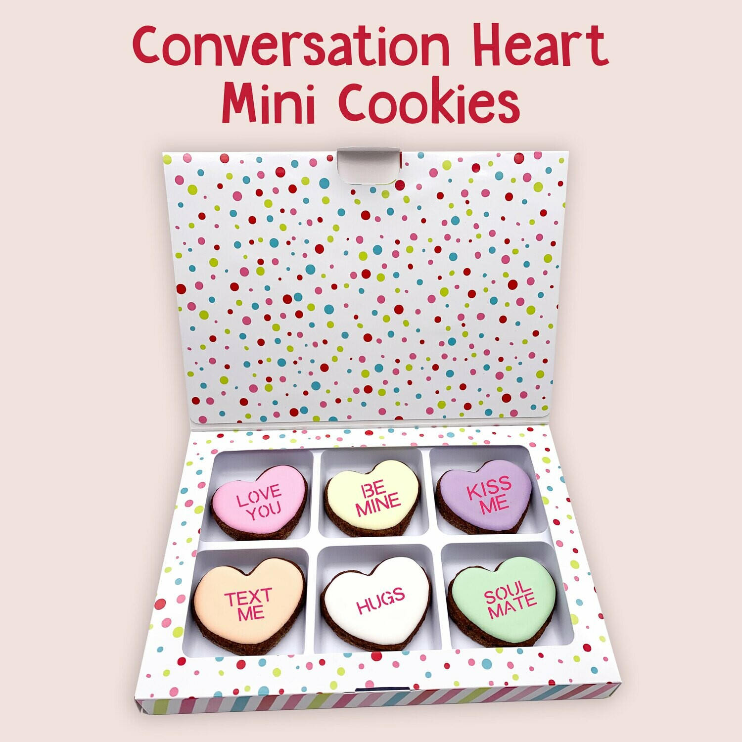 Conversation Hearts Mini Cookie Box
