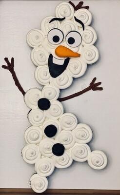 Olaf Pull Apart Cupcakes