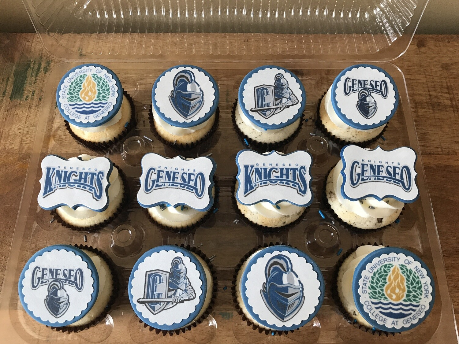 School Cupcakes with Custom Toppers