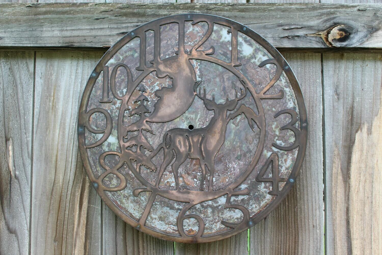 Deer Moon Clock