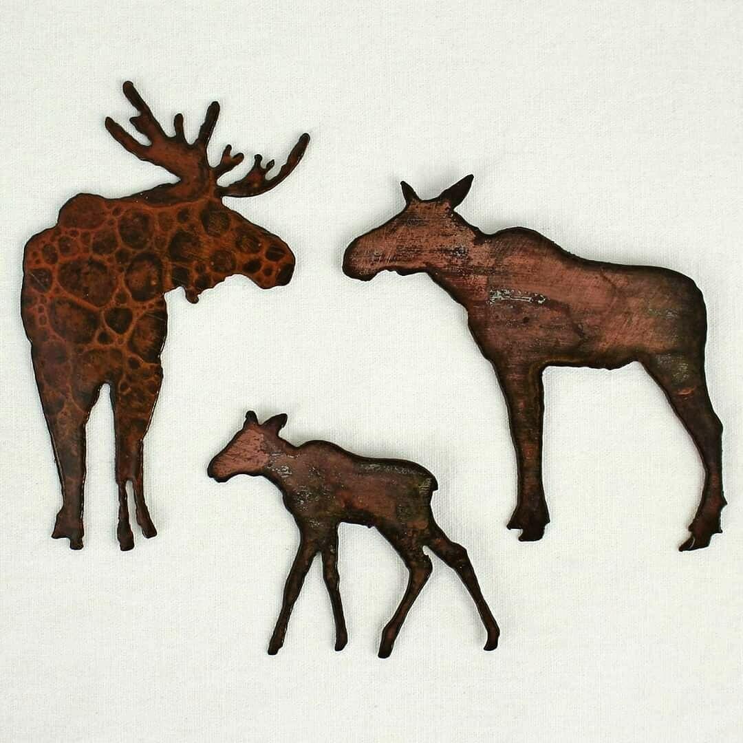 Moose Family Magnet Set