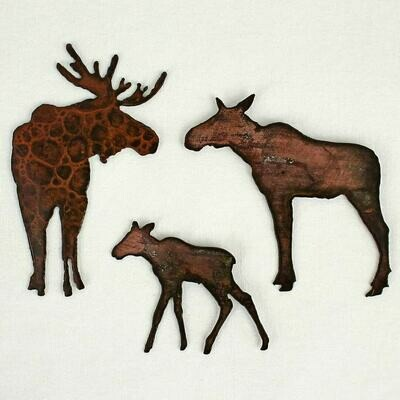 Moose Family Magnet Set