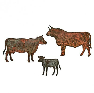 Cow Family Magnet Set