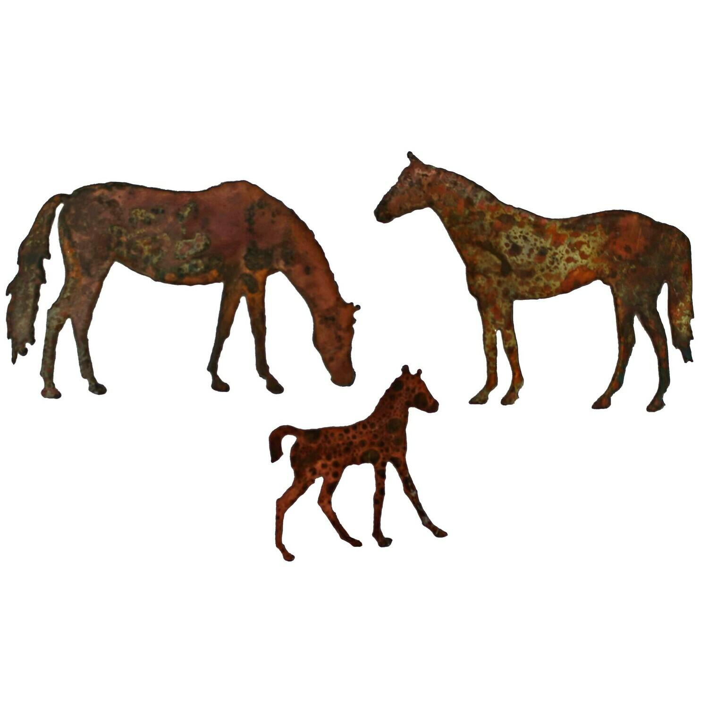 Horse Family Magnet Set