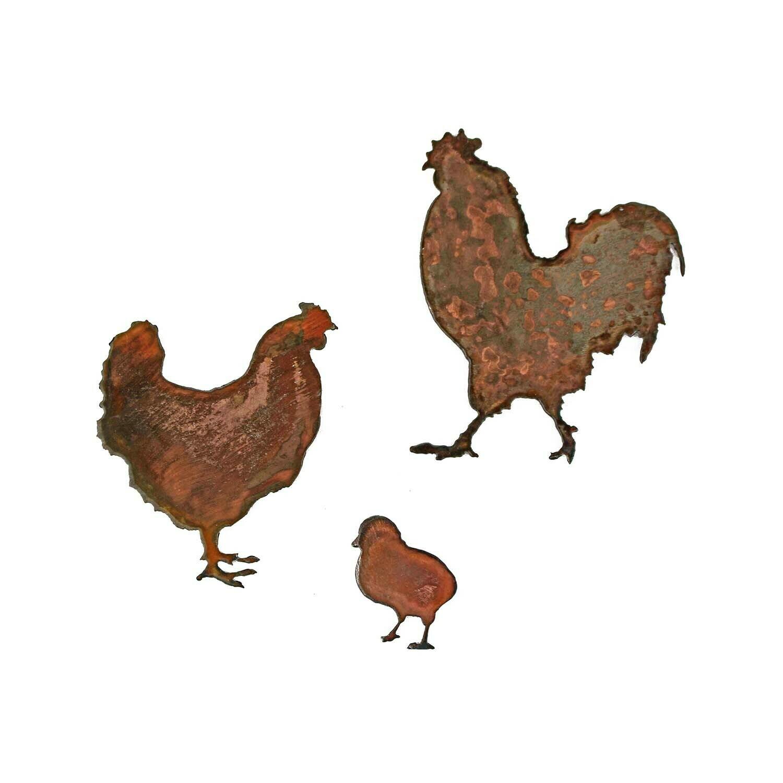 Chicken Family Magnet Set