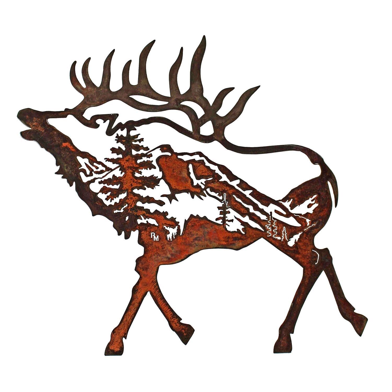 Elk w/ Mountain Scene