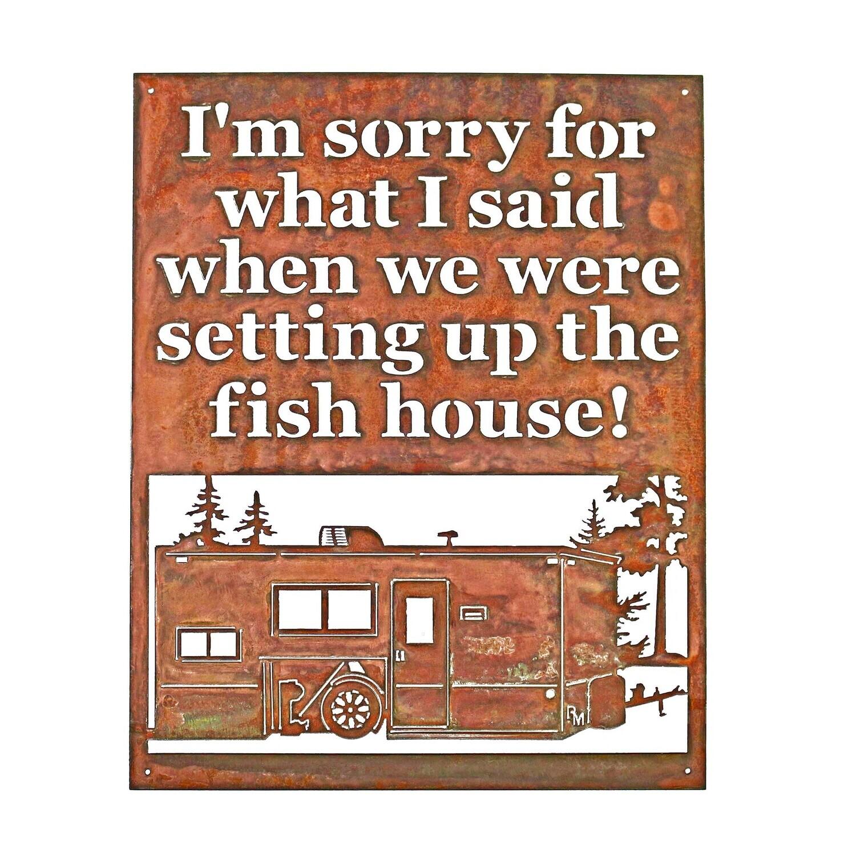 Custom Saying w/ Fish House