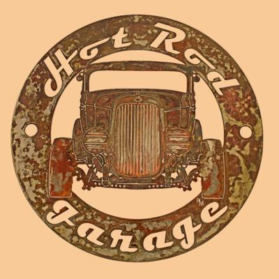 Custom Car & Name Circle Sign