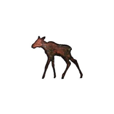 Moose Calf Magnet