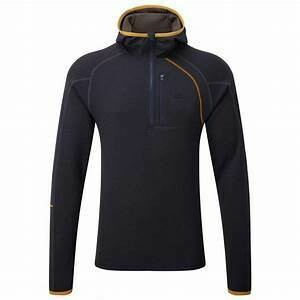 MOUNTAIN EQUIPMENT INTEGRITY HOODED ZIP TEE COSMOS MEDIUM