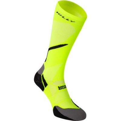 HILLY VIVID COMPRESSION SOCK YELLOW UNISEX MEDIUM 6-8.5