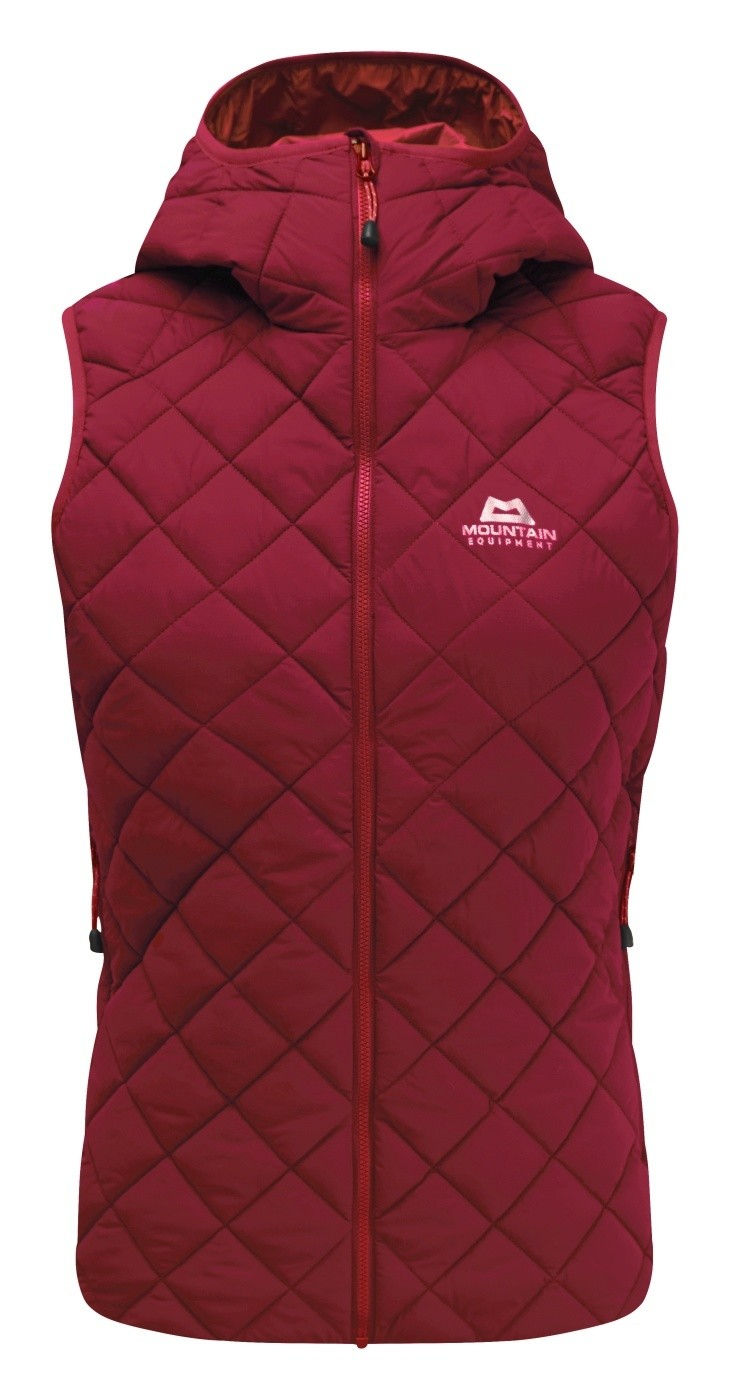 MOUNTAIN EQUIPMENT FUSE HOODED VEST CRANBERRY 12
