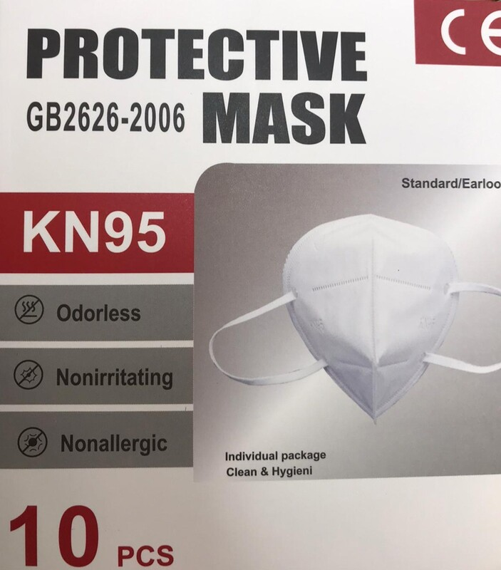 Box of Ten Protective KN95 Face Masks delivered to your door