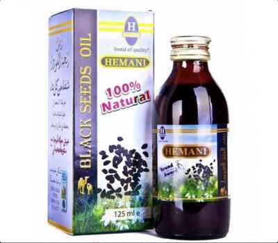Organic Black Seed Oil (Blackseed) Herbal 125ml Hemani 100% Pure Natural Extract Medical