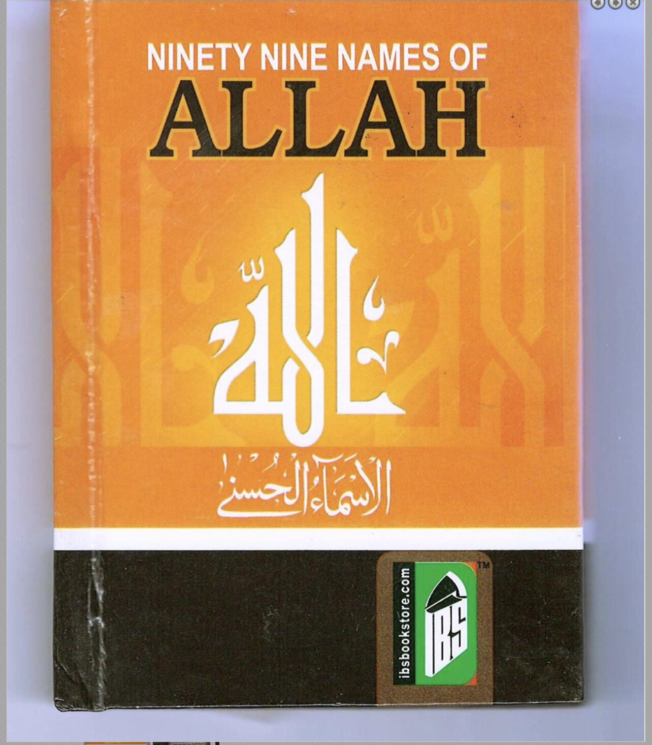 99 Names of Allah Arabic-English-Transliteration PocketsizeZoom Product Photo  Product Photo 99 NAMES OF ALLAH ARABIC-ENGLISH-TRANSLITERATION POCKETSIZE