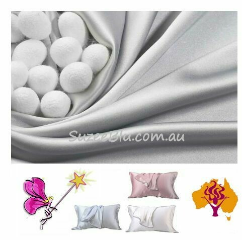 Jessicurl Australia Silk Pillowcase - Silver with black piping