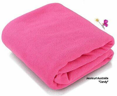 Jessicurl Australia Microfibre Plunking Towel - Candy Cane