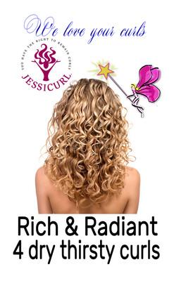 Jessicurl Rich & Radiant Collection Citrus Lavender 237ml (8oz)