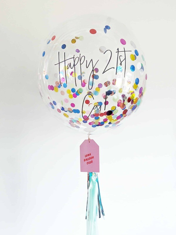 Confetti Bubble | Custom Message