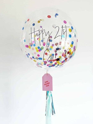 Confetti Bubble with Personalised Message
