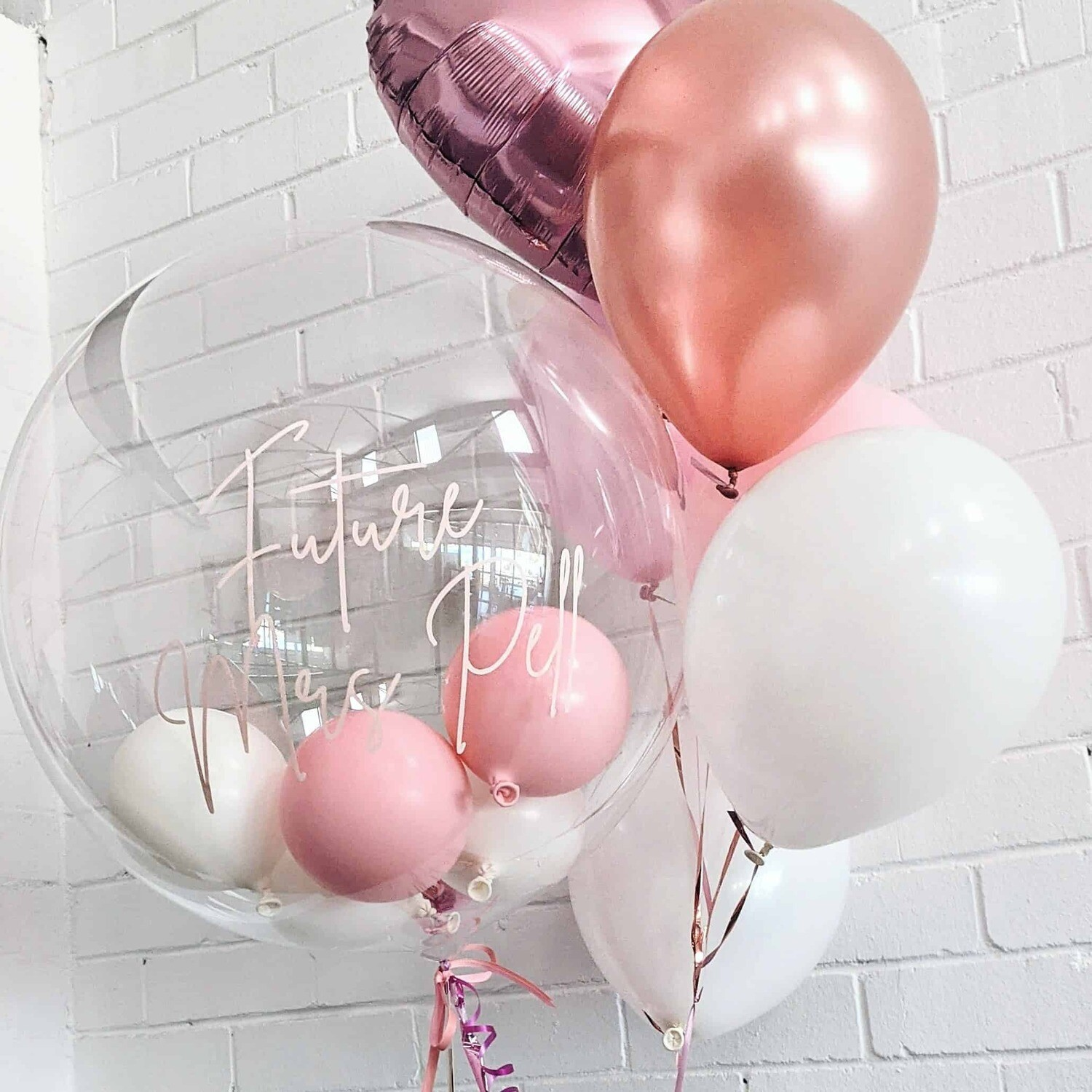 Balloon Bubble with Personalised Message