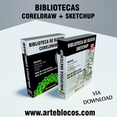 COMBO: Biblioteca de blocos para Coreldraw e Sketchup