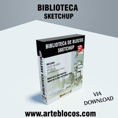 Biblioteca de blocos para Sketchup