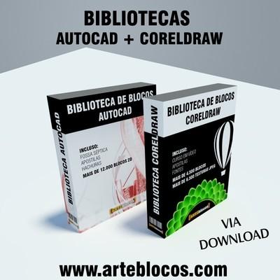 COMBO: Bibliotecas de blocos para Autocad e Coreldraw