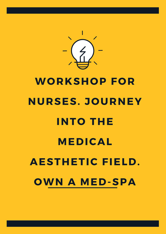 Nurses! Workshop Open A Medical Spa. Book dates - 2/28, 3/7, 3/14, 3/21, 3/28, 4/11, 4/18. With More Days to Follow.