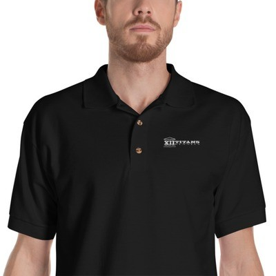 Classic Black Embroidered Polo Shirt