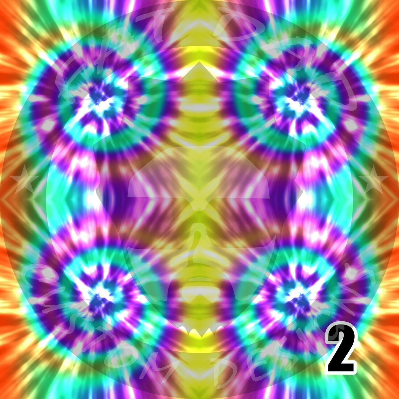 Tie Dye Theme Printed Heat Transfer Vinyl (HTV)