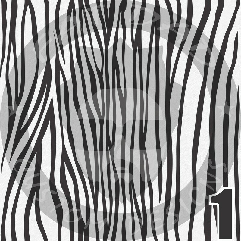 Animal Print Theme Printed Heat Transfer Vinyl (HTV)