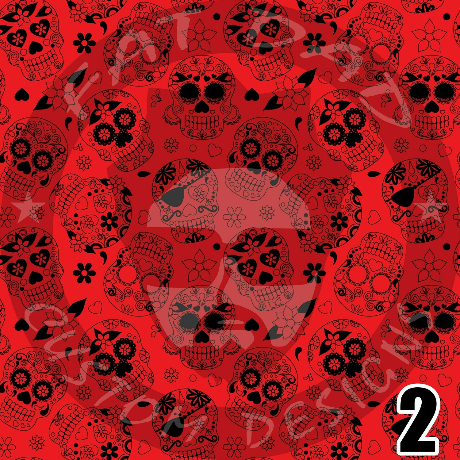 Day of the Dead Printed Adhesive Craft Vinyl