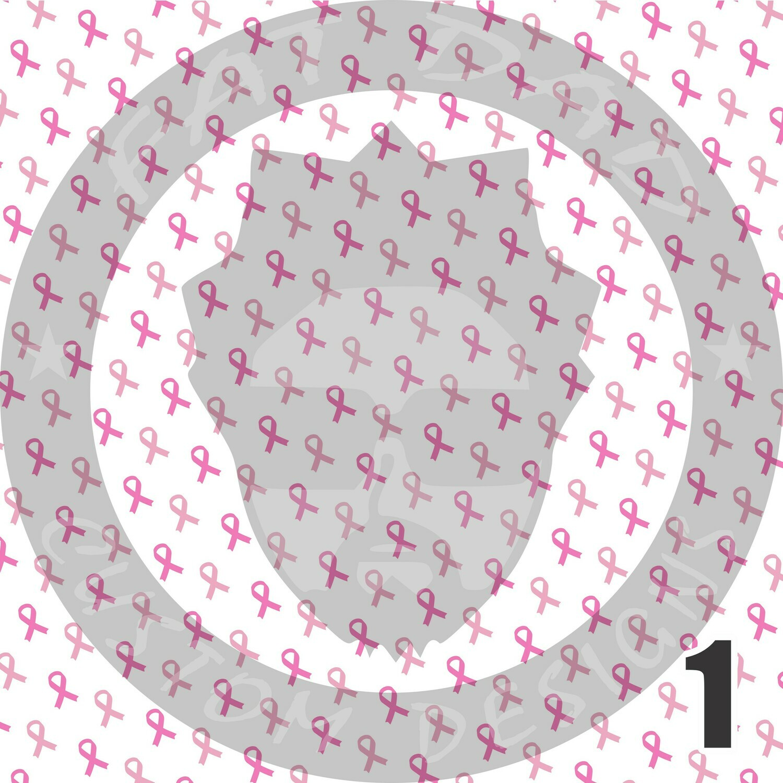 Breast Cancer Theme Printed Heat Transfer Vinyl (HTV)