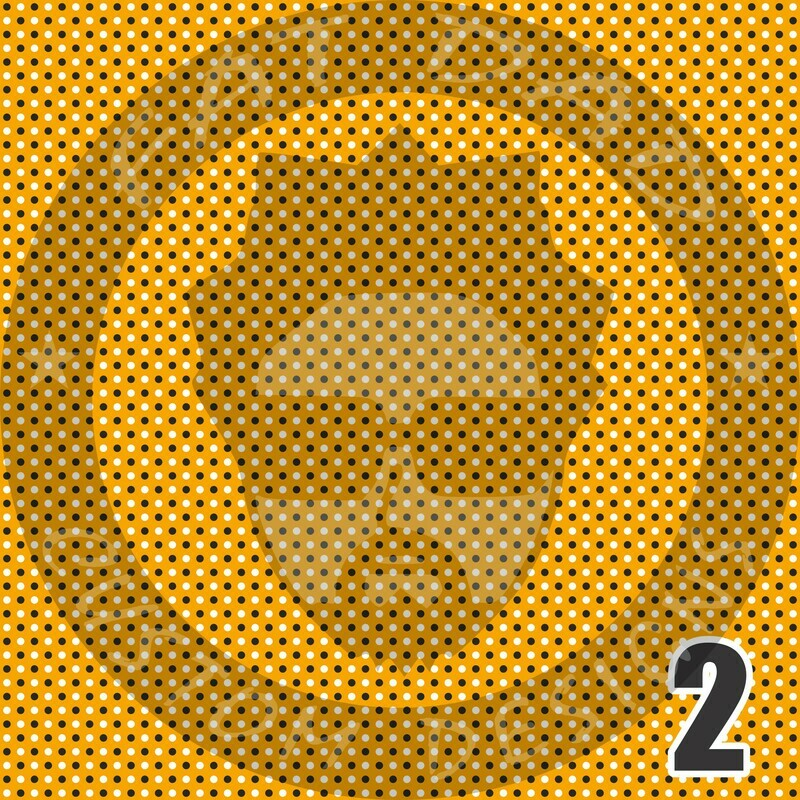 Gold and Black Bandana Theme Printed Heat Transfer Vinyl (HTV)