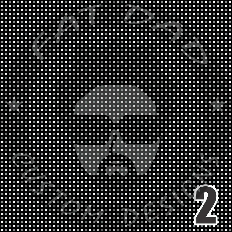 Black Bandana Theme Printed Heat Transfer Vinyl (HTV)
