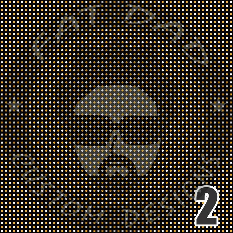 Black and Gold Bandana Theme Heat Transfer Vinyl (HTV)